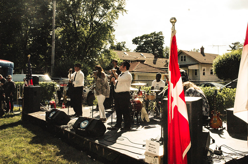 Blues Brothers cover band at The Danish Home Summerfest